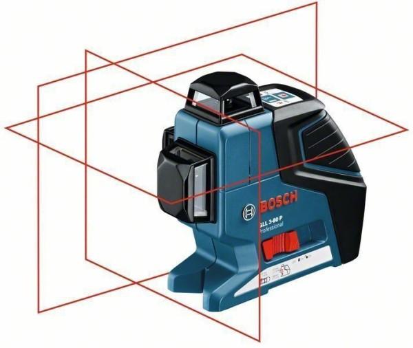 Bosch Linienlaser GLL3-80P+BM1+Deckenklemme
