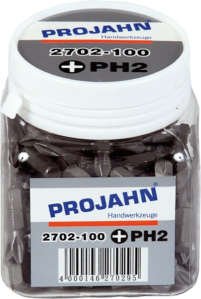 "Projahn 1/4"" Bit L25 mm Phillips Nr 3 100er Pack"