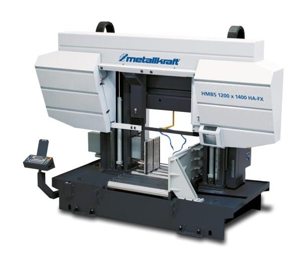 Metallkraft Vollautomatische Zwei-Säulen-Horizontal- Metallbandsäge mit ARP-System für den schweren industriellen Einsatz HMBS 1200 x 1400 CNC X