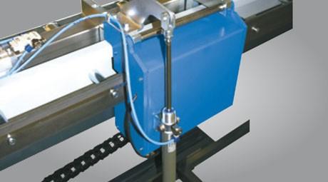 Metallkraft Erweiterung des Rollen- und Messbahnsystems MRB Standard für effektiveres und zeitsparendes Arbeiten Materialarm pneumatisch wegklappbar