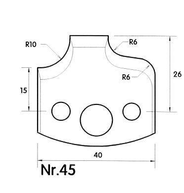 Brück Uni-Profilmesser Nr. 45