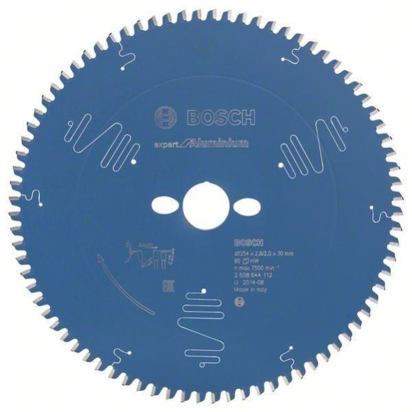 Bosch Kreissägeblatt Expert for Aluminium, 254 x 30 x 2,8 mm, Z80