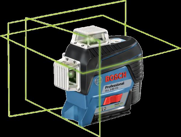 Bosch Linienlaser GLL 3-80 CG + GSR 12V-15 + Zubehör in i-BOXX