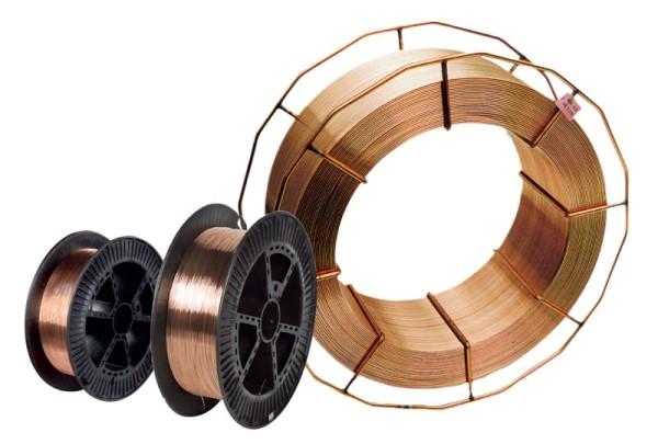 Schweisskraft MAG Stahl-Schweißdrähte niedriglegiert MAG Stahl-Schweißdraht SG 2 / D 300 normalgespult 15 kg / Ø 0,8 mm