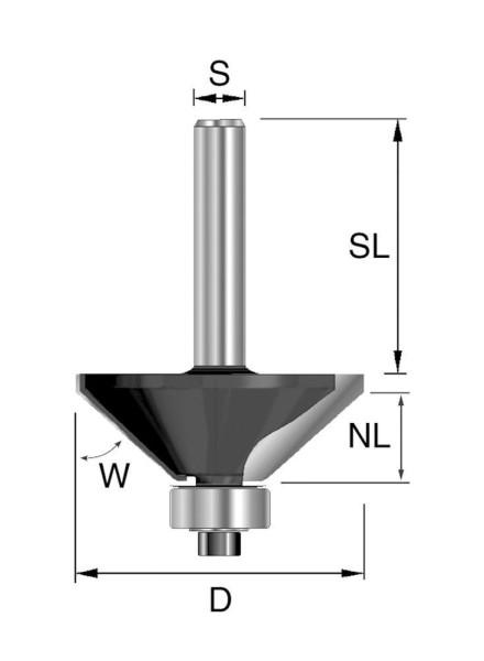 Brück HW-Fasefräser D44,5, NL15,9