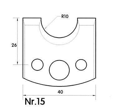 Brück Uni-Profilmesser Nr. 15
