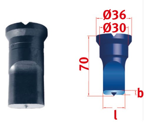 Metallkraft Langlochstempel für Mubea Lochstanzen Langlochstempel Nr.2  10.5 x 30.0 mm