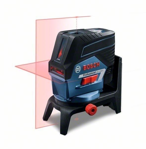Bosch Kombilaser GCL 2-50 C, mit 1 x 2,0 Ah Li-Ion Akku, RM2, BM3, L-BOXX