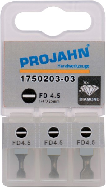 """Projahn 1/4"""" Bit Diamantbeschichtet L50 mm Schlitz 0,6x4,5"""