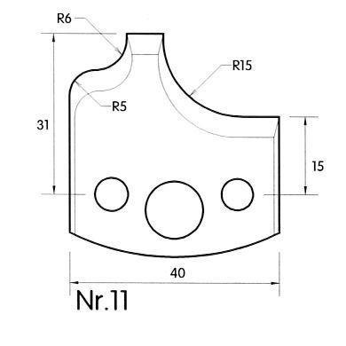 Brück Uni-Profilmesser Nr. 11