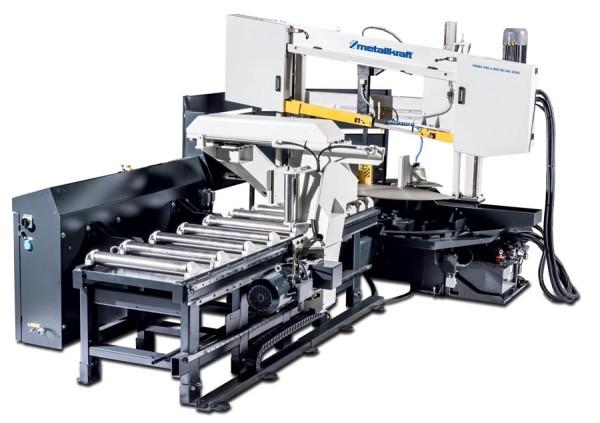 Metallkraft Vollautomatische Zwei-Säulen-Horizontal-Metallbandsäge für Winkelschnitte mit 2000 mm Vorschublänge und ARP-System für den industriellen Einsatz HMBS 440 x 600 NC-DG X 2000